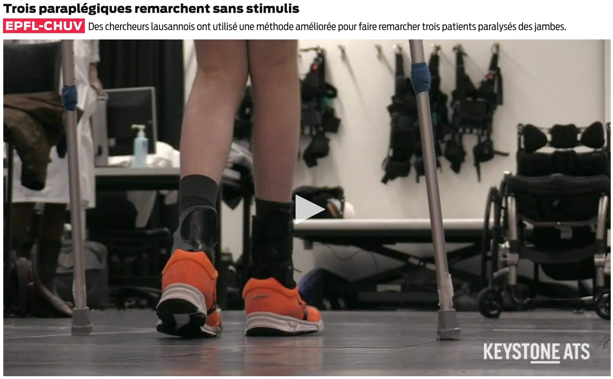 Courtine-Trois paraplégiques remarchent